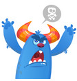 angry monster cartoon vector image vector image