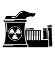 atomic reactor icon simple style vector image vector image
