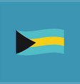 bahamas flag icon in flat design vector image vector image