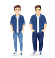 big man in casual clothes set vector image