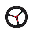 bike wheel icon vector image vector image