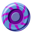 blue and purple sweet lollipop candie icon vector image vector image