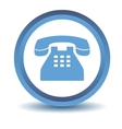 Blue Telephone icon vector image vector image