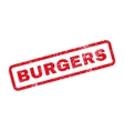 Burgers Text Rubber Stamp vector image vector image