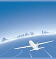 cancun skyline flight destination vector image vector image