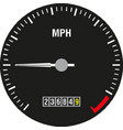 car speedometer panel control symbol of vector image