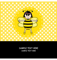 Card girl disguised as a bee vector image vector image