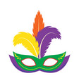 carnival mask icon flat cartoon style vector image