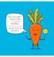 Carrot cartoon character vector image