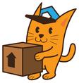 Cat Bring Box vector image vector image