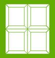 chocolate piece icon green vector image vector image