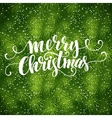 Christmas fir tree texture with greetings vector image vector image