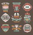 College team American football retro emblems vector image vector image