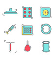 contraception methods line icon vector image vector image