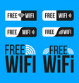 creative of free wifi icon vector image vector image