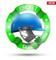 Cricket Sport Label vector image vector image
