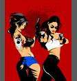 criminal girls vector image vector image