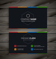 dark company business card vector image vector image