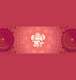decorative beautiful lord ganesha artistic vector image vector image