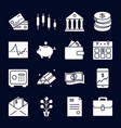 finance and money silhouette icon collection in vector image vector image