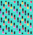 flat manicure gel polish background vector image vector image