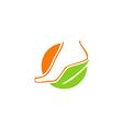 foot beauty bio ecology medicine logo vector image vector image