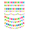 garland with flags rainbow garlands hanging vector image