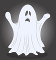 ghost for halloween drawing vector image vector image