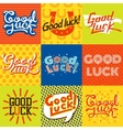 good luck farewell card vector image