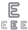 Grey line e logo design set vector image vector image