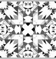 grey repeating kaleidoscope pattern background vector image vector image