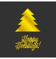 Happy Holiday sign vector image vector image