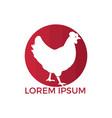 hen logo design vector image