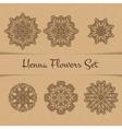 Henna Flowers Set vector image vector image