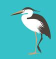 heron standing flat style vector image vector image