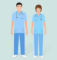 hospital staff concept couple of man orderly and vector image vector image