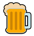 isolated beer icon image vector image vector image
