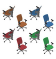 isometric office chairs vector image vector image