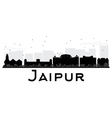 Jaipur City skyline black and white silhouette vector image vector image