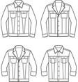 jean jacket set vector image vector image