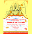 lord ram sita laxmana hanuman and ravana in ram vector image vector image