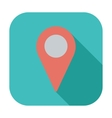 Map pointer single icon vector image vector image