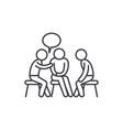 mentorship line icon concept mentorship vector image