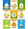 Milk Products Poster Set vector image vector image