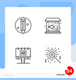 modern pack 4 icons line outline symbols vector image vector image