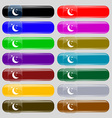 moon icon sign Set from fourteen multi-colored vector image vector image