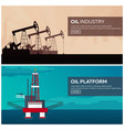 oil platform sea tower oil exploration vector image