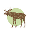 polygonal abstract elk wild animal side view vector image