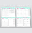 project planner template vector image