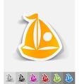 realistic design element sailing boats vector image vector image
